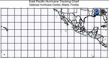 Atlantic hurricane tracking map